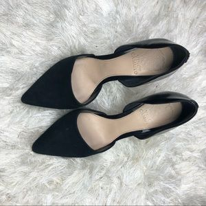 Vince Camuto Woman's D'Orsay Heels Black Sz 6 1/2